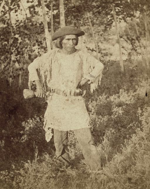 Beautiful Man: Ai'-at-tau-a, (beautiful man,) Chief of the Mo-a-pa'-ri-ats. Photographed by John K. Hillers, c1874.