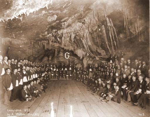 Meeting in the Copper Queen mine
